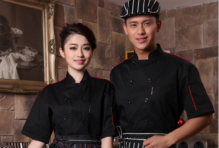 Hotel Restaurant Kitchen Workwear Short-sleeve Shirt
