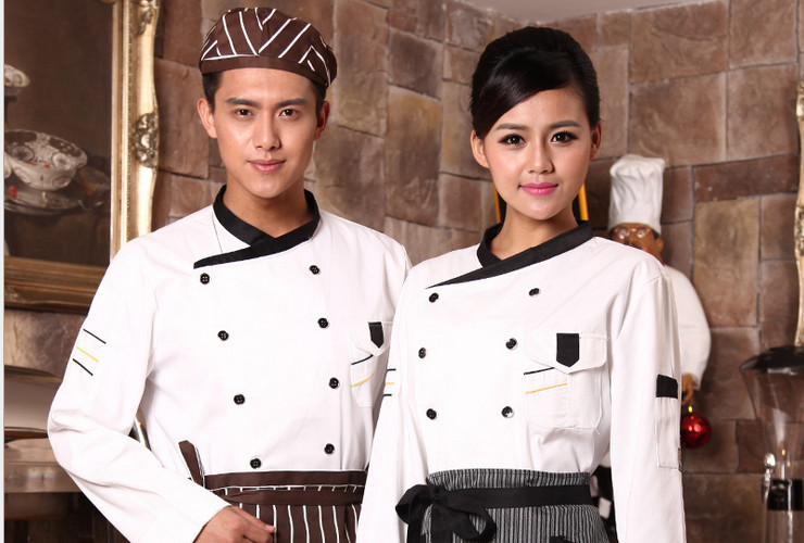 Hotel Restaurant Kitchen Workwear Long-sleeve Chef Cook Uniform