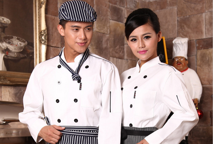Hotel Restaurant Kitchen Cakeshop Noodle Shop Workwear Long-sleeve Shirt
