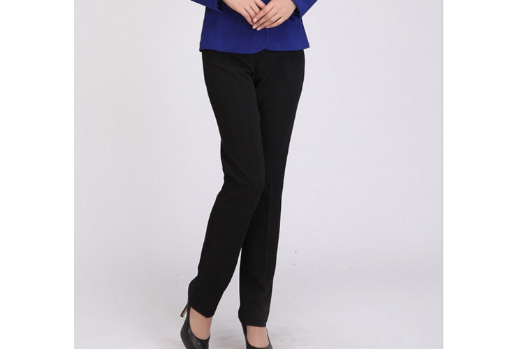 Women Winter Fall Thick-style Black Slimming Work Pants
