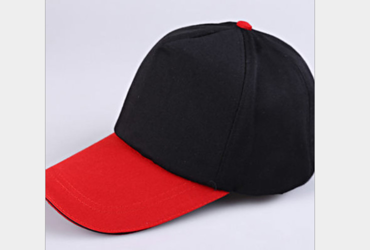 AD Cap Work Cap Duo-color Cap Fast-food Cap Logo Printing Applicable