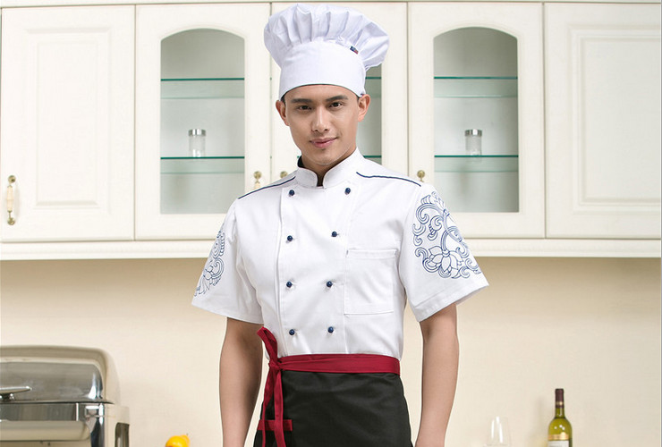 Hotel Restaurant Floor Hotpot Shop Chinese Restaurant Kitchen Short-sleeve Shirt