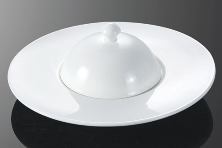 Ceramics UFO-shaped Fin Bowl With Lid