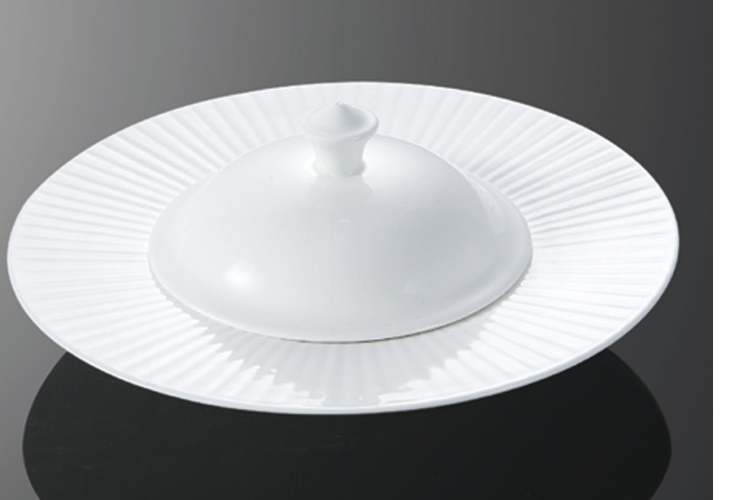 Ceramics Light-shinning Fin with Lid Bowl