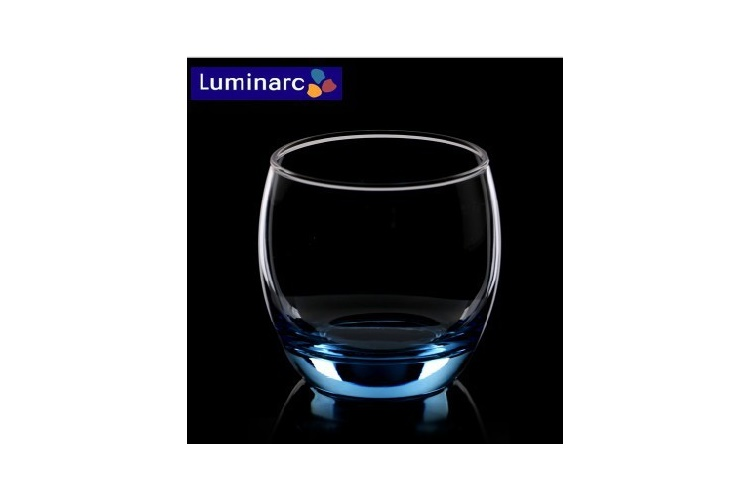 France ARC Luminarc Stylish Colored Glass Fruit Juice Glass Square Round Glass