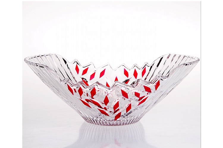 Crystal Glass Fruit Tray Nuts Plate Wedding Gift KTV Fruit Plate