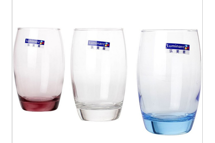 Luminarc 350ML 3-piece-colorful Set Water Glass Fruit Juice Mouth-washing Glass