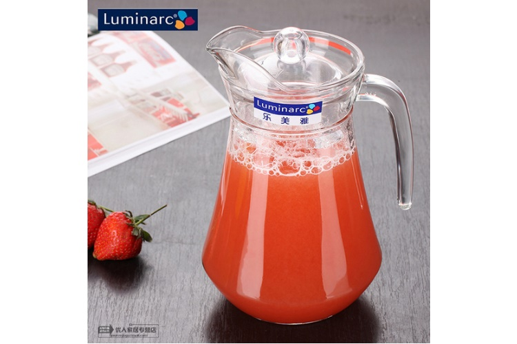 Luminarc Glass Big-capacity 1.3L Duck-mouth Lid Kettle Cold Water Kettle