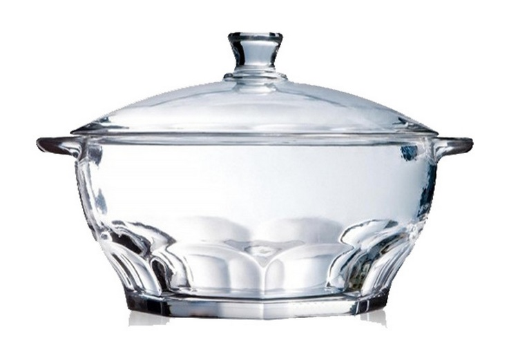 Luminarc Tempered Glass Lid Big Bowl Pot