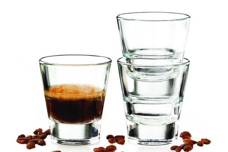 US Libbey Stackable Drink Glass Whisky Glass Expresso Coffee Glass 6 Piece Set