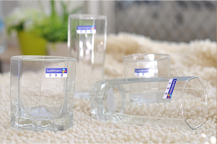Luminarc Octagonal Glass Cup Beer Cups Juice Drink Whiskey Spirits Cup