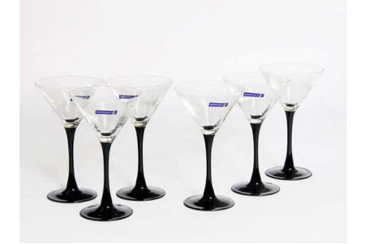 Luminarc Black-colored-base High-leg Cocktail Glass