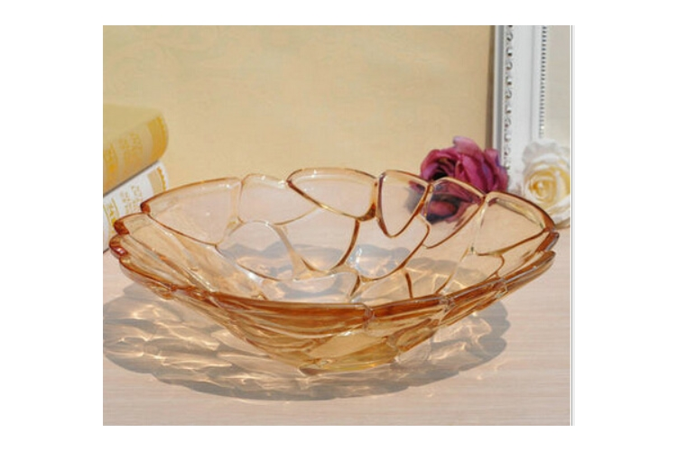European-style Glass Fruit Plate Nuts Plate Restaurant Fruit Plate