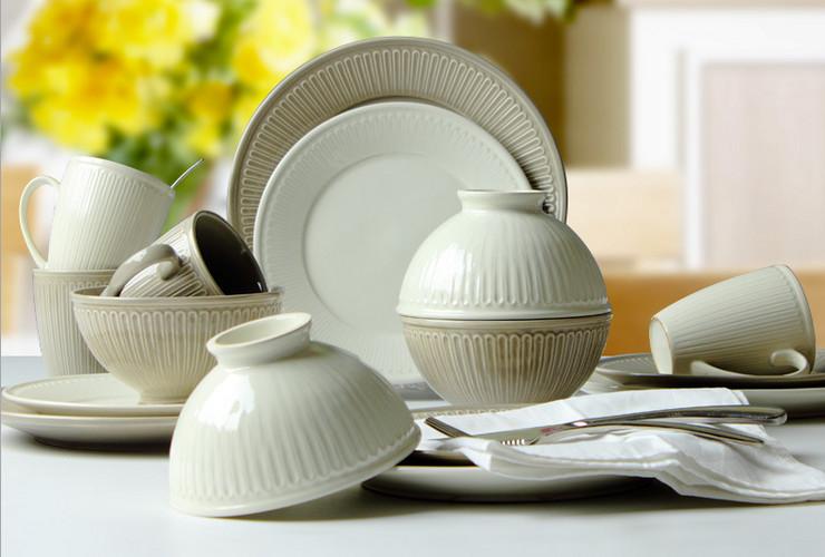 Simple Color Glaze Ceramic Tableware Embossed Bowl Plate European Tableware Set Western Plate Salad Bowl & Wholesale Simple Color Glaze Ceramic Tableware Embossed Bowl Plate ...