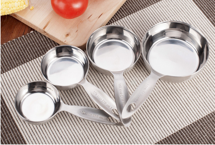 Stainless Steel Baking Tool Set 4 Measuring Cup Thickened 304 Machine-polished Cup