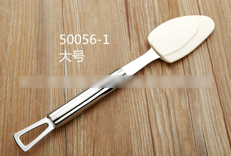 Big-size Stainless Steel Silica Wiping Knife 304 Stainless Steel Handle High-temperature Resistant EU Certified Butter Wiper