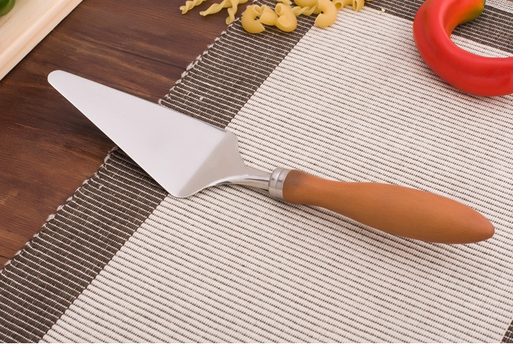 18/10 Stainless Steel Beech Cake Shovel Pizza Shovel Cheese Shovel