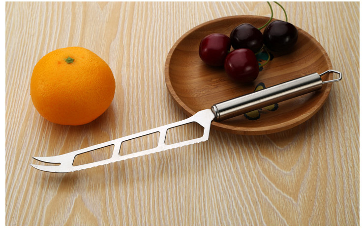 EU Certified Stainless Steel Butter Knife Double-sharp Baking Butter Knife Toothed Cheese Knife