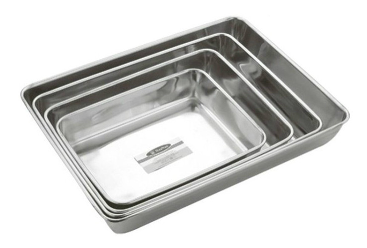Stainless Steel Towel Tray Non-magnetic Multi-use Rectangular Tray Square Tray