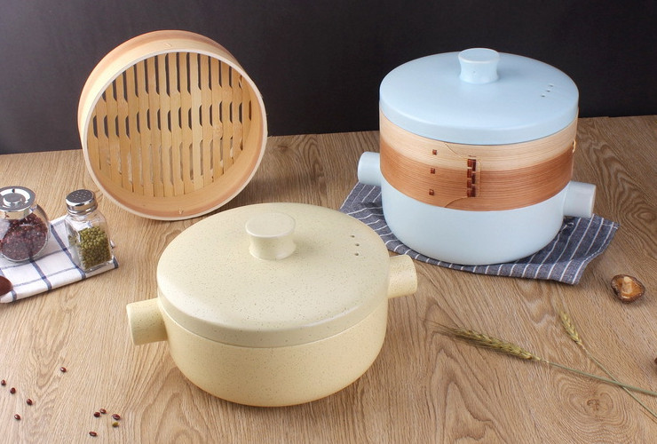 2.5L Ceramic Casserole with Steaming Cage