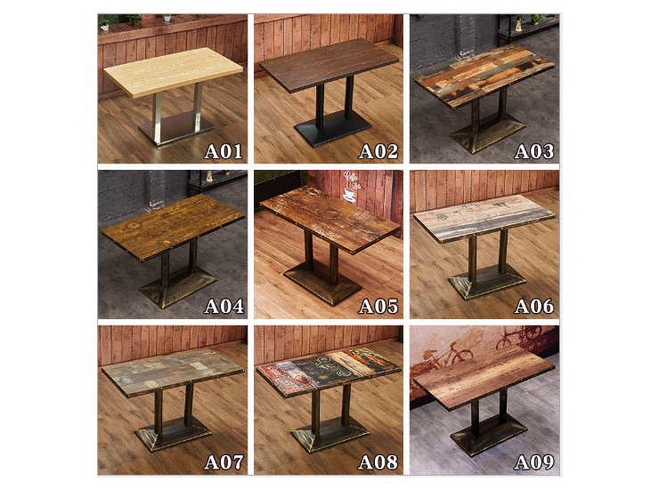 Fast Food Restaurant Table Snack Bar Hot Pot Restaurant Dining Table Hotel Restaurant Table Chair Tea Shop Fried Chicken Restaurant Dining Table (Shipping Fee Quoted Separately)