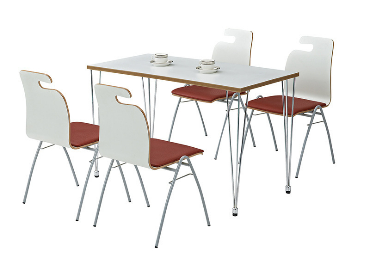 Fast Food Tables Chairs Leisure Reception Dining Table Chair Combination Dining Hotel Simple Tables Chairs (Delivery & Installation Fee To Be Quoted Separately)