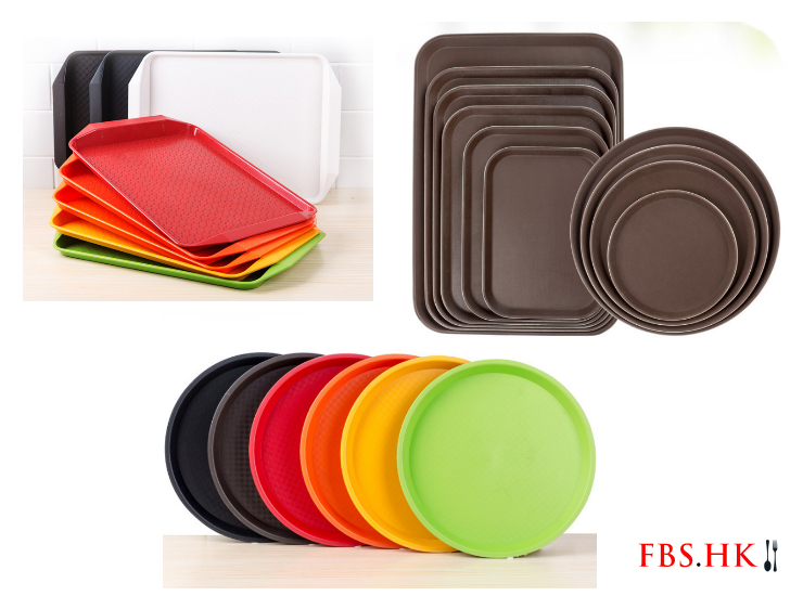 Fast Food Tray Rectangular Plastic Tray Canteen Tableware Hotel Thick Non-Slip Tray Cake Plate (Various Models)