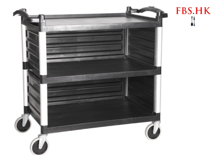Food Delivery Car Three-Tiered Slab Trolley With Bezel Service Car Hotel Food Delivery Trolley Small Size Large