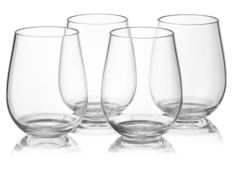 Glass Plastic Wine Glass Set Tritan Wine Glass Food Grade Wine Glass (4 Pcs Sets)