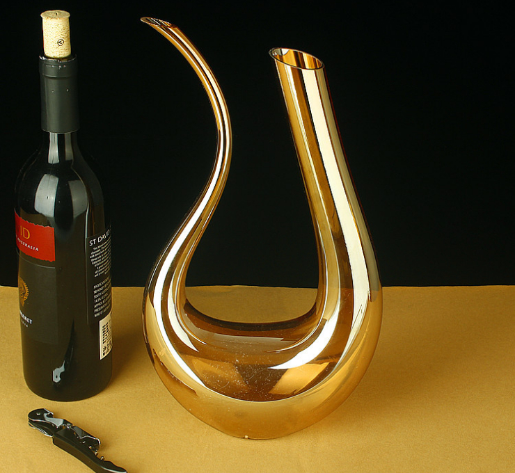 Gold-Plated Crystal Lead-Free Fast Decanter Foam Packaging Set U-Shaped Wine Decanter