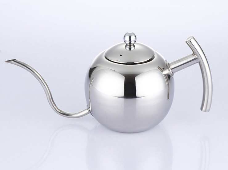 Hand-Washed Pot Mocha Coffee Pot Stainless Steel Coffee Pot European-Style Stainless Steel Thin Mouth Teapot With Strainer