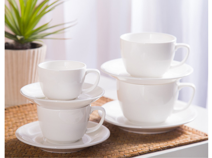 (Have Samples) Low Bone China Ceramic Coffee Cup European And American White Cup