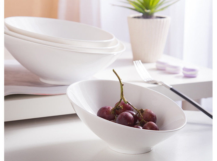 (Have Samples) Low Bone China Ceramic Mouth Bowl Bowl Salad Bowl Sichuan Bowl Fruit Salad Bowl Hotpot Cuisine Bowl