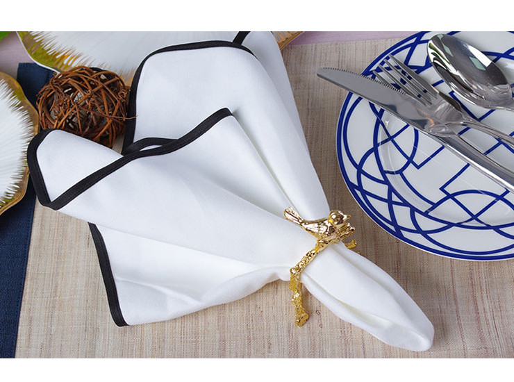 High-Class Hotel Western Restaurant White Cotton Napkin Restaurant Cloth Cotton Folding Towel Cloth