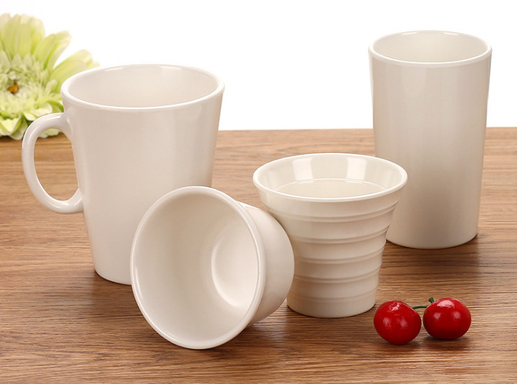 High-Grade A5 Cup White Melamine Cup Tea Cup Drink Cup Mouth Hotel Catering Cup Melamine Tableware