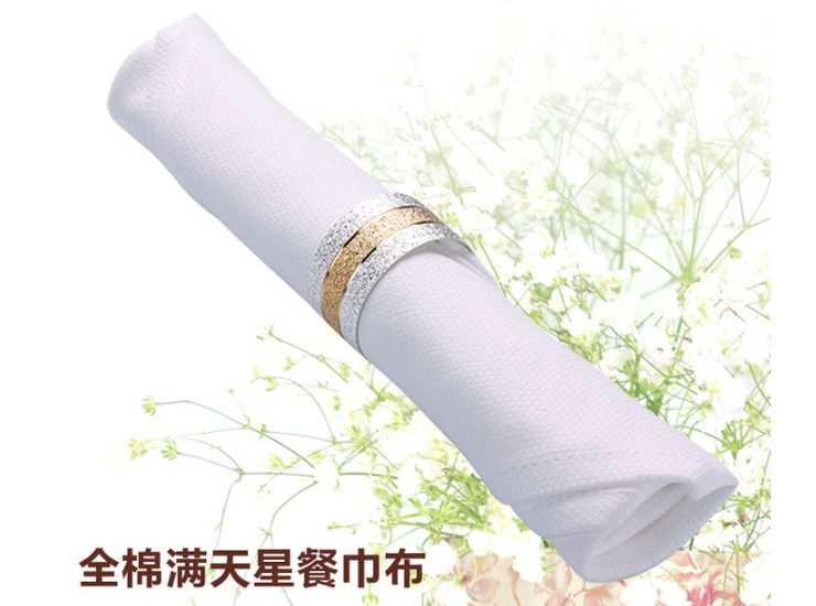 High-Grade Cotton Jacquard Star Pattern White Mouth Cloth Restaurant Cotton Quilt Napkin Cotton