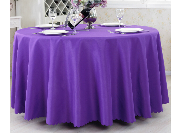 Hotel Linen Circular Solid Color Tablecloths Luxury Restaurant Banquet Polyester Tablecloth Wholesale