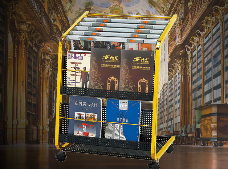 Hotel Lobby Supplies Black King Kong Newspaper Rack Display Rack Magazine Rack Magazine Rack Data Rack Display Rack
