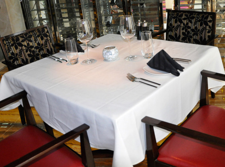 Hotel Restaurant Banquet Cotton White Tablecloth Tablecloth Upscale Western Restaurant Pure Square Tablecloth Wholesale