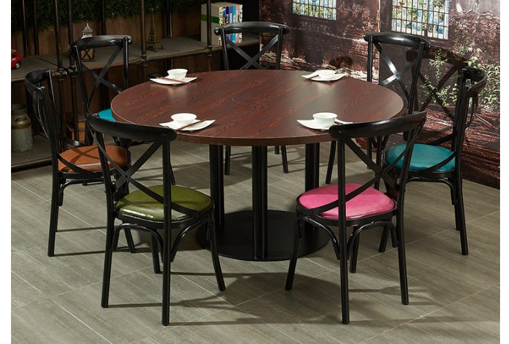 Hotel Restaurant Round Table Western Restaurant Tables Chairs Stalls Restaurant Hot Pot Restaurant Dining Tables Chairs (Delivery & Installation Fee To Be Quoted Separately)