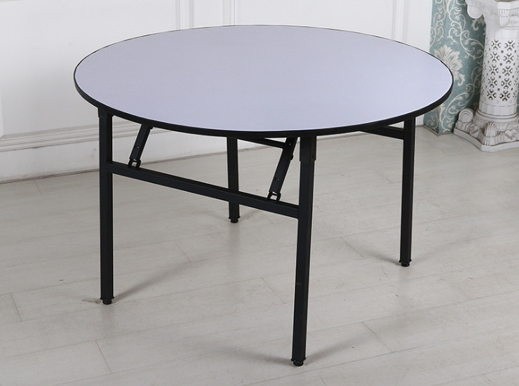Hotel Round Table Table Banquet Table Steel Pipe Pvc Table Wholesale Custom Folding Table Large Round Table Wholesale