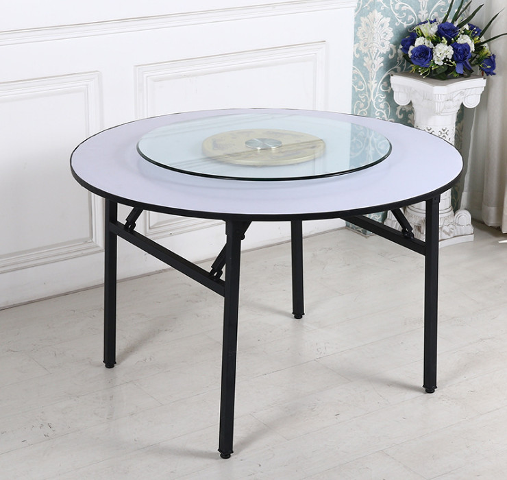 Hotel Round Table Table Banquet Table Steel Pipe Pvc Table Wholesale Custom Folding  Table Large Round