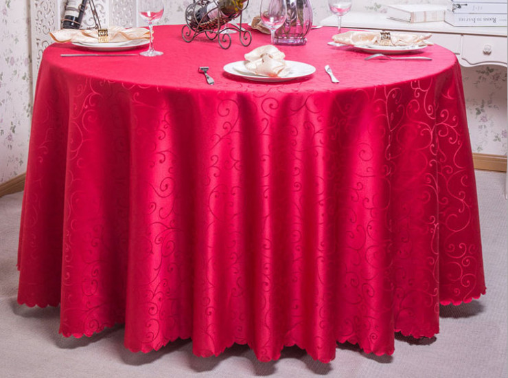 Hotel Supplies European And American Wedding Tablecloths Upscale Hotel Restaurant Banquet Round Tablecloths Wholesale