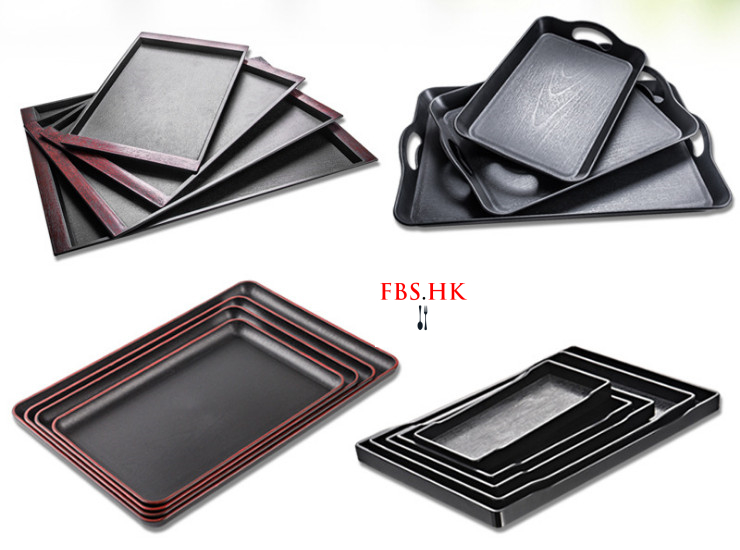 Hotel Tray Rectangular Cups Tea Tray Fruit Plate Melamine Plastic Japanese Tray (Various Models)