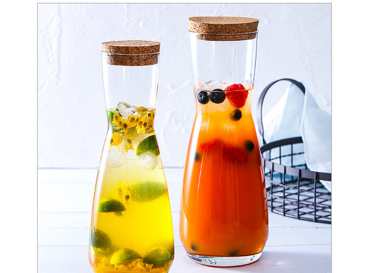 Imported Libbey Libby And Clay Glass Kettle Cold Kettle Juice Pot Cooler Tray Pot Milk Bottle Transparent Cover