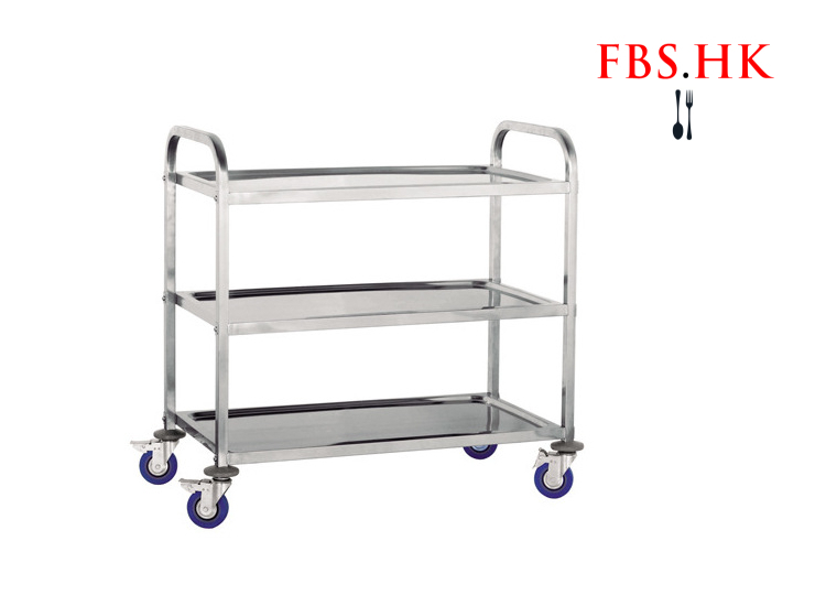 (Instant Pick Stainless Steel Restaurant Cart Ready Stock) Stainless Steel Practical Hand Push Three-Tier Dining Car