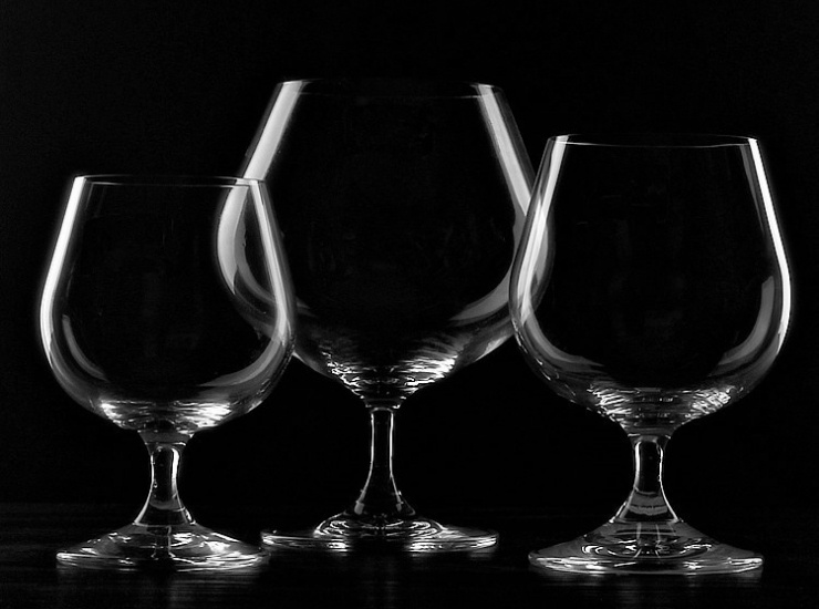 Italian Delita Lead-Free Crystal Glass Wine Glass Wine Glass Brandy Glass Stem Glass Wine Glass Hard Drink Glass