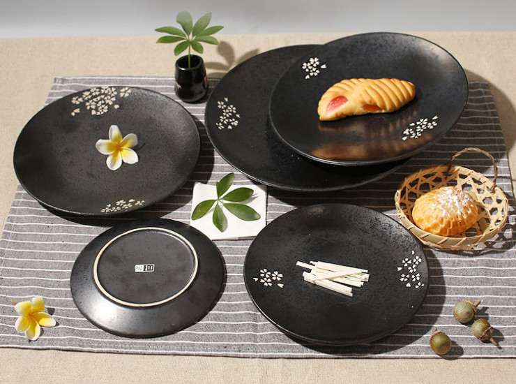 Japanese And Korean Ceramic Tableware Hand-Painted Creative Dishes Bone Plate Disc Western Dishes Hotel Table Tableware