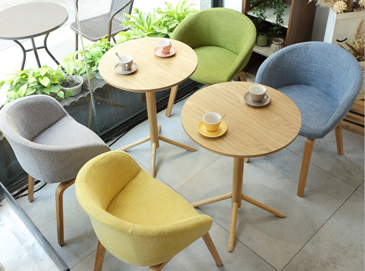 Japanese Restaurant Cafe Table Chair Combination Cloth Dessert Shop Milk Tea Shop Table Chair Nordic Leisure Reception Negotiation Table Chair Combination (Delivery & Installation Fee To Be Quoted Separately)