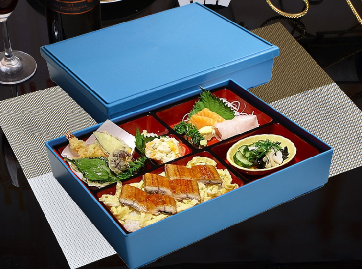 Japanese-Style Abs Business Set Lunch Box Size And Capacity Five-Point Lunch Box Fast Food Box Sushi Box With Lid Tableware (Different Colors Options)